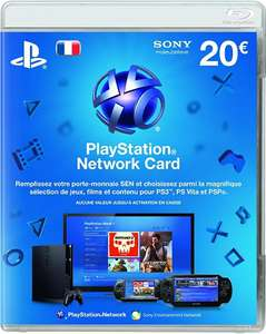 Expiré : Carte Sony PlayStation Network : 20€ de crédit pour 10€ @ Darty belle epine Magasin