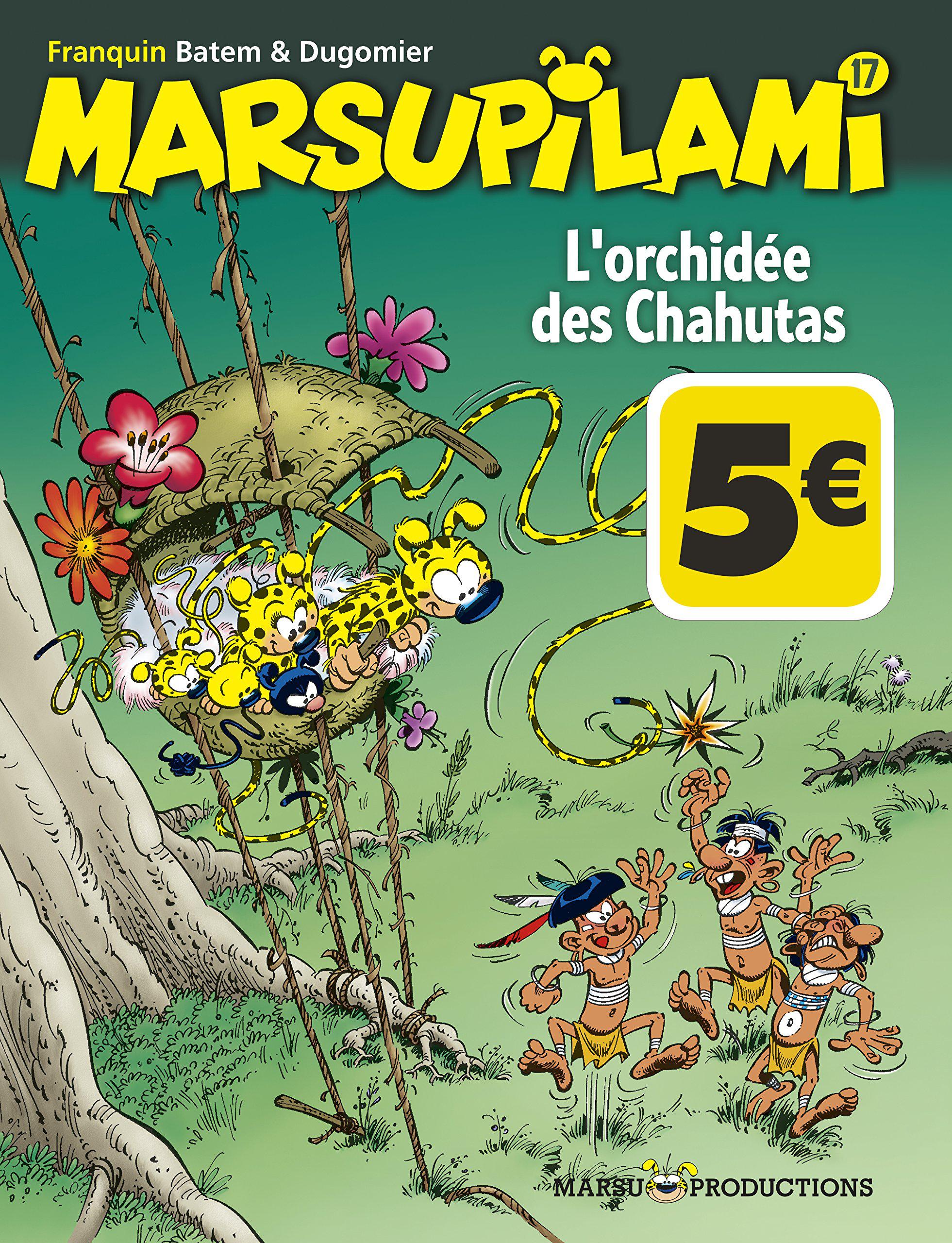 """Séléction de nouveautés BD à 5€ - Ex : Marsupilami Tome 17 """"L'orchidée des chahutas"""""""