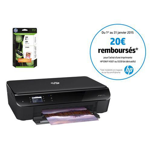 Pack Imprimante HP Envy 4503 + 2 cartouches + papier photo + enveloppe (20€ ODR)