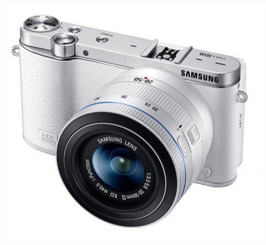 Appareil photo hybride Samsung NX3000 + Objectif 20-50mm - Blanc