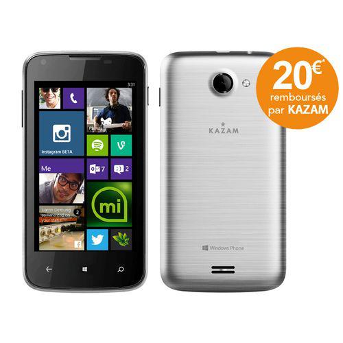 Smartphone Kazam Thunder 340W argent (avec 20€ ODR)