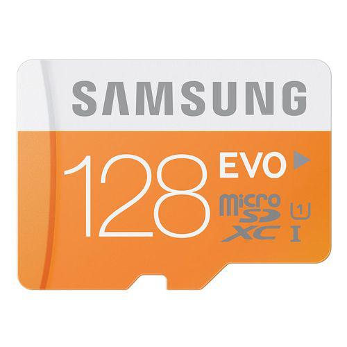 Carte mémoire Micro SDXC Samsung Evo 128 Go Classe 10