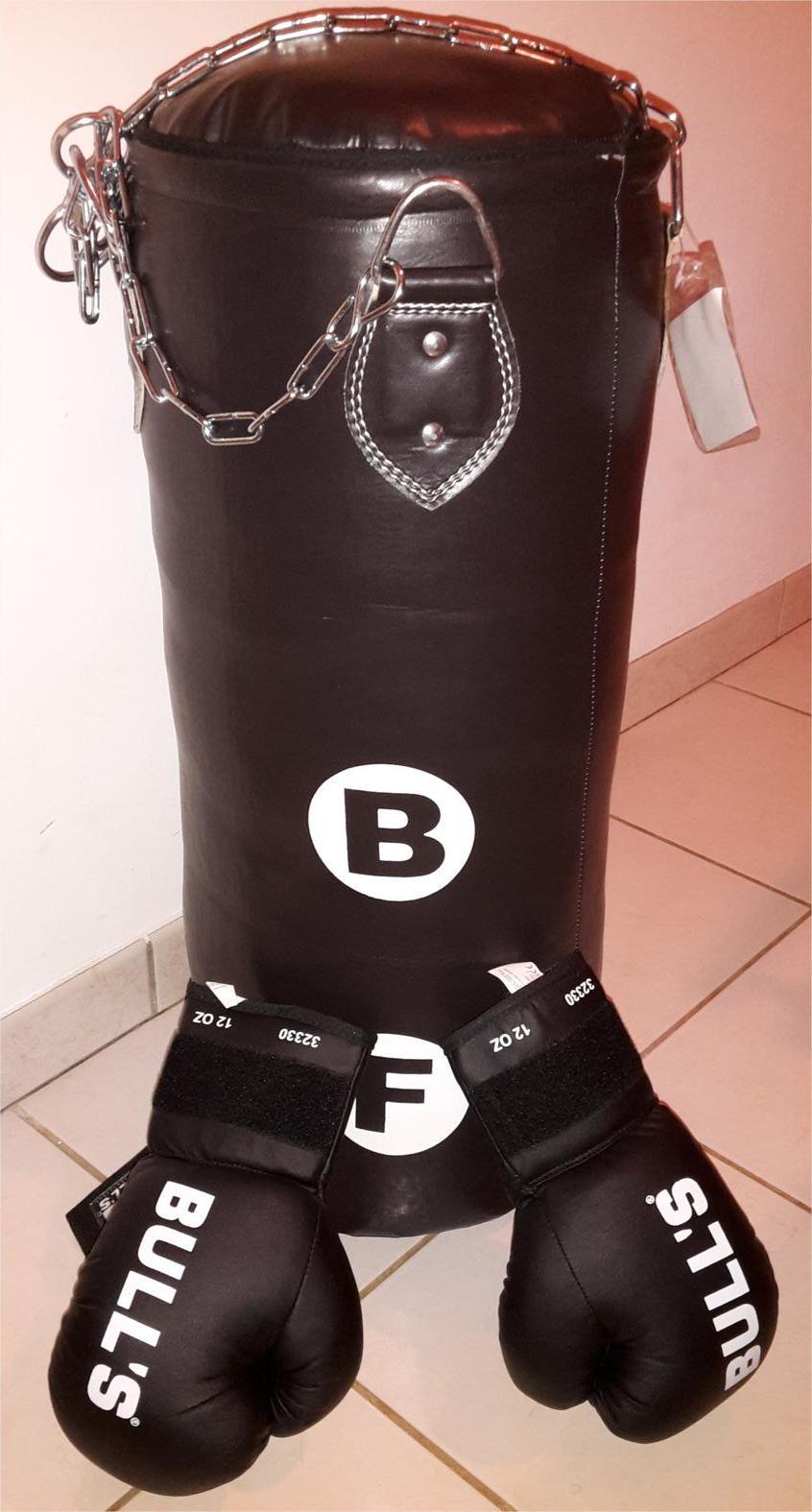 kit sac de frappe + gants de boxe