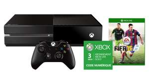 Pack Xbox One FIFA 15 + 2ème manette + Xbox Live Gold 3 mois