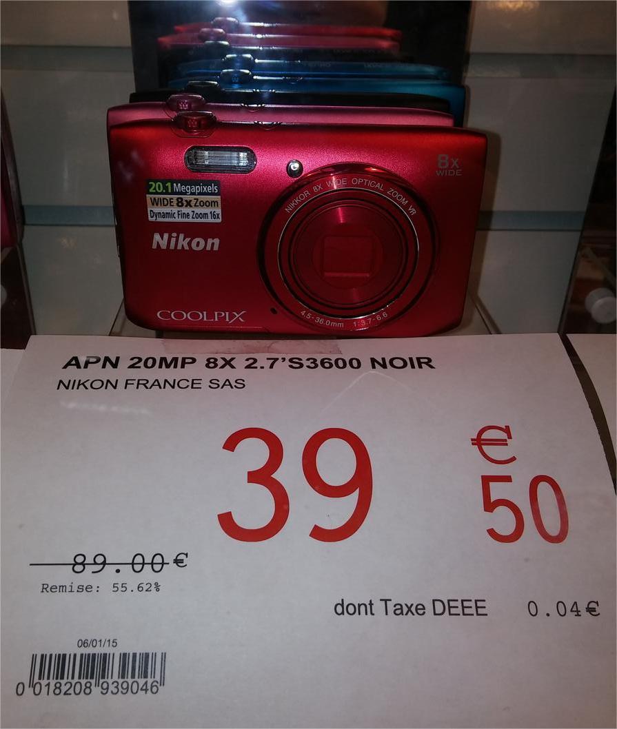 Appareil photo numérique Coolpix S3600 - 20 MP