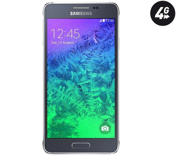 """Smartphone 4.7"""" Samsung Galaxy Alpha Noir avec ODR (70€)"""