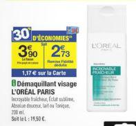 Démaquillant L'Oréal (avec 30% sur la carte + BDR + C-Wallet)