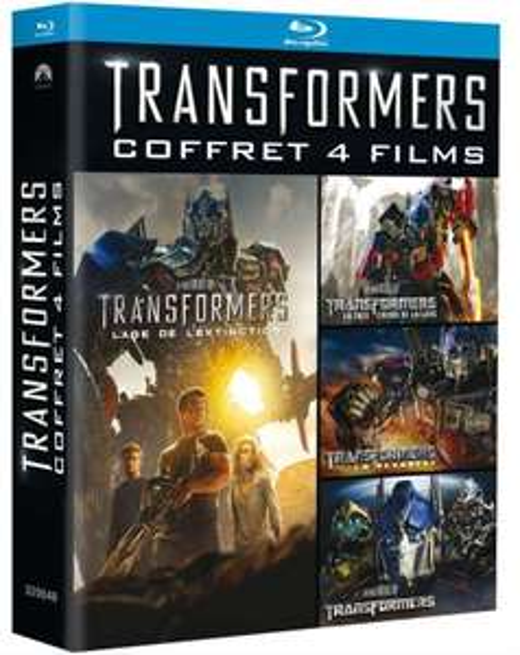 Coffret 4 Blu-ray Transformers Quadrilogie