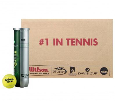 18 boîtes de 4 balles de tennis Wilson Coupe Davis