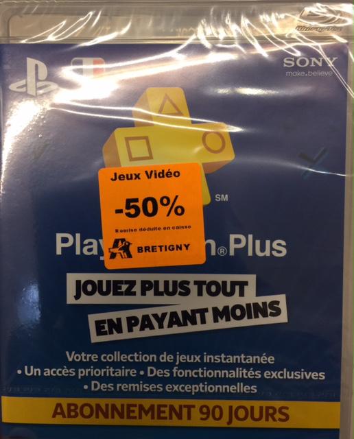 Abonnement de 3 mois au Playstation Plus