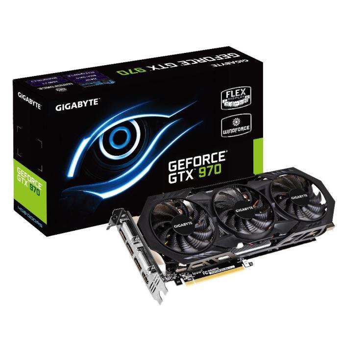 Carte graphique Gigabyte GeForce GTX 970 WF3 - 4 Go
