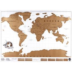 Sélection de cartes du monde - Ex : Carte du monde à gratter 88x52cm