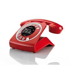 Téléphone Sagemcom Sixty Everywhere rouge avec répondeur