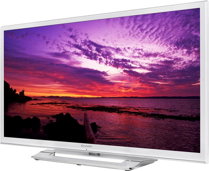 "TV LED 39"" Sharp LC-39LE350EWH Blanc (Full HD, 3 HDMI, DNLA, PVR, Timeshift...)"
