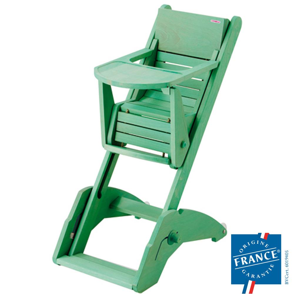 Chaise haute bébé multipositions twenty one vert amande