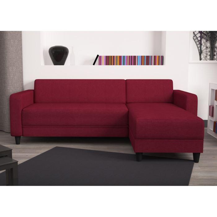 Canapé angle réversible 4 places rouge