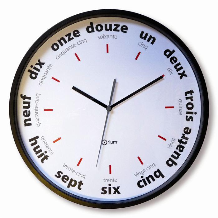 Sélection d'horloges en promo - Ex : Horloge murale Lettres 30cm de diamètre à partir