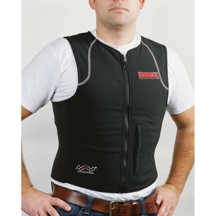 Veste chauffante infrarouge Oxford 4 zones de chauffe en fibre de carbone pour motard