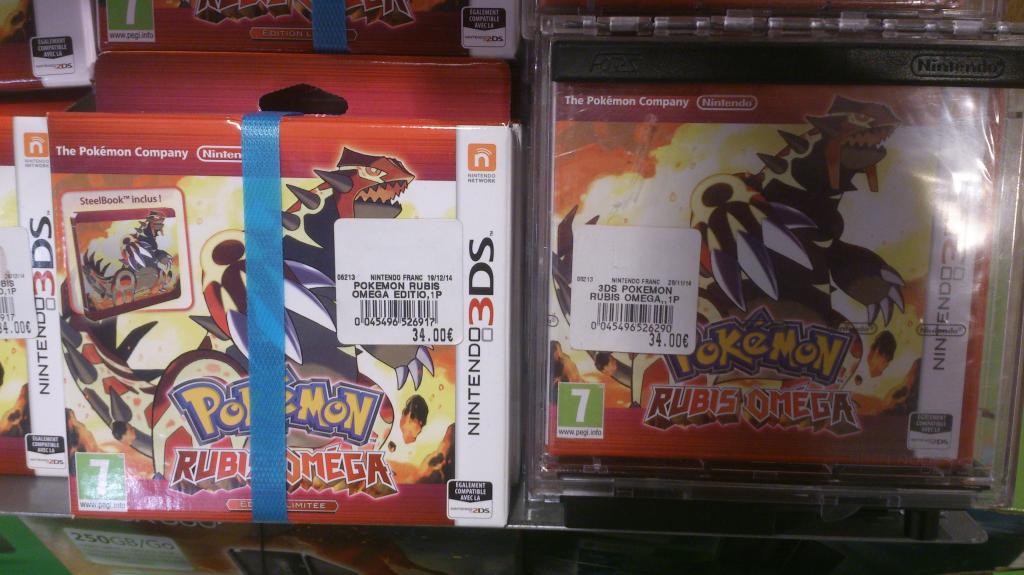 Sélection de jeux en promo - Ex : Pokemon Ruby Omega Edition limitée sur Nintendo 3DS