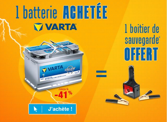 Batterie VARTA  (Jusqu'à -41% + boitier de sauvegarde offert)