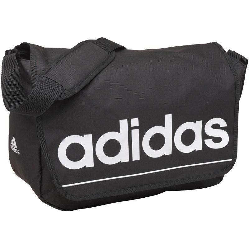 Sac Messenger Adidas Essentials Linear Logo Noir/Blanc