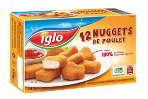 2 paquets de 12 nuggets Iglo gratuits (40% de réduction immédiate, 2€ de BDR, 1€ via C-Wallet)