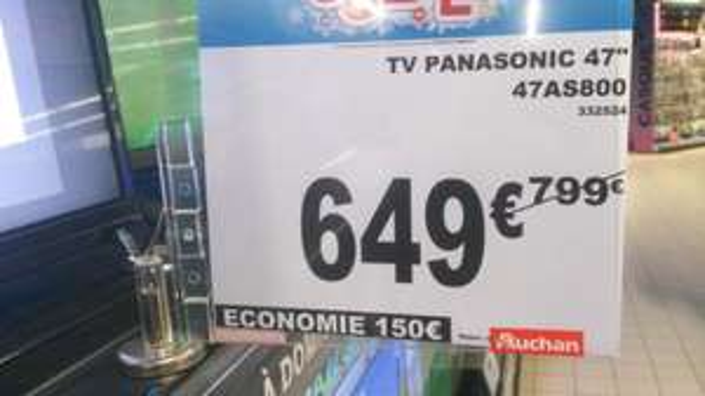 """TV 47"""" Panasonic TX-47AS800 Full HD 3D"""