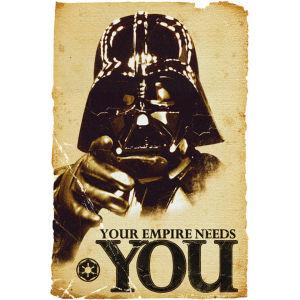 Sélection de posters Star Wars en promo - Ex : Empire Needs You - 61 X 91.5 cm