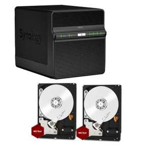 """Combo NAS Synology DS414j + 2x WD Red 6To 3.5"""" (12To)"""