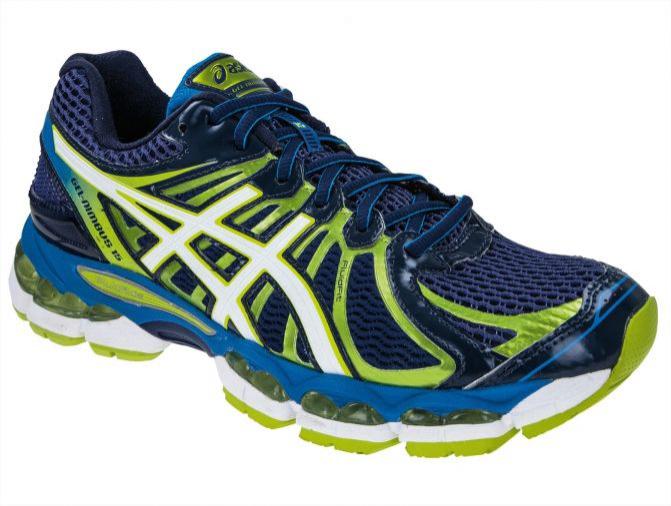 Chaussures Asics Nimbus 15 - Bleu/vert