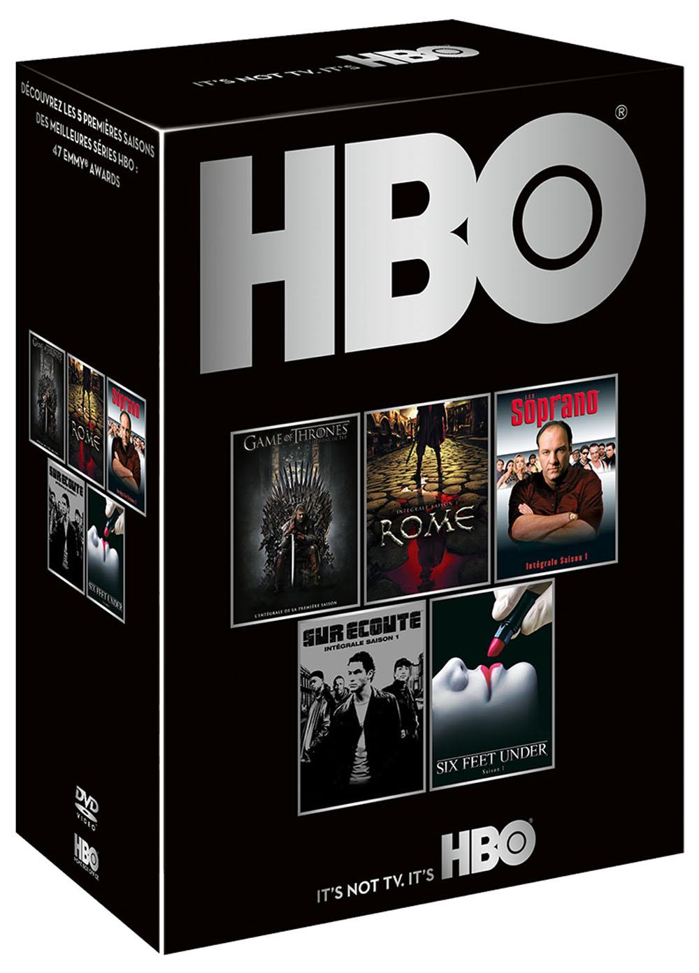 Coffret DVD - HBO découverte - Saisons 1 - Game of Thrones + The Soprano + Rome + Sur écoute + Six Feet Under