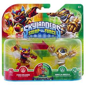 Pack 2 figurines (scindables) Skylanders Swap Force