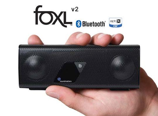 Enceinte portable Bluetooth APT-X Soundmatters FoxL v2.2 Platinum