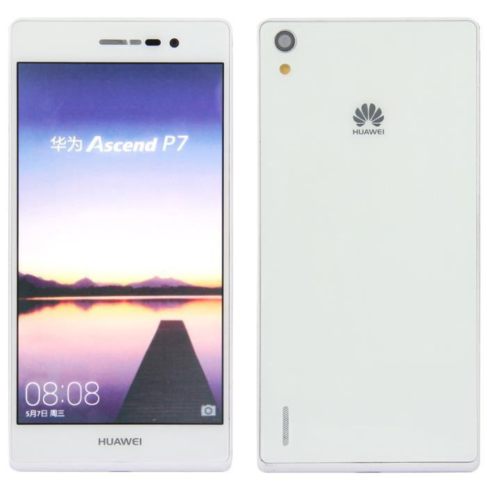 """Smartphone 5"""" Huawei P7 4G 16 Go - Noir, Blanc ou Rose (avec ODR 50€)"""