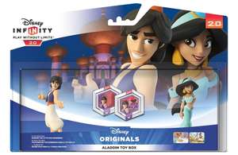 Pack Toy Box Aladdin : 2 figurines Disney Infinity 2.0 + 2 discs infinity