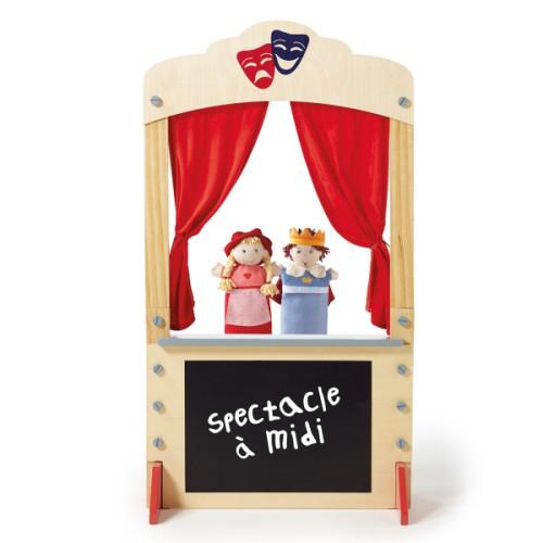théâtre en bois pour marionnettes
