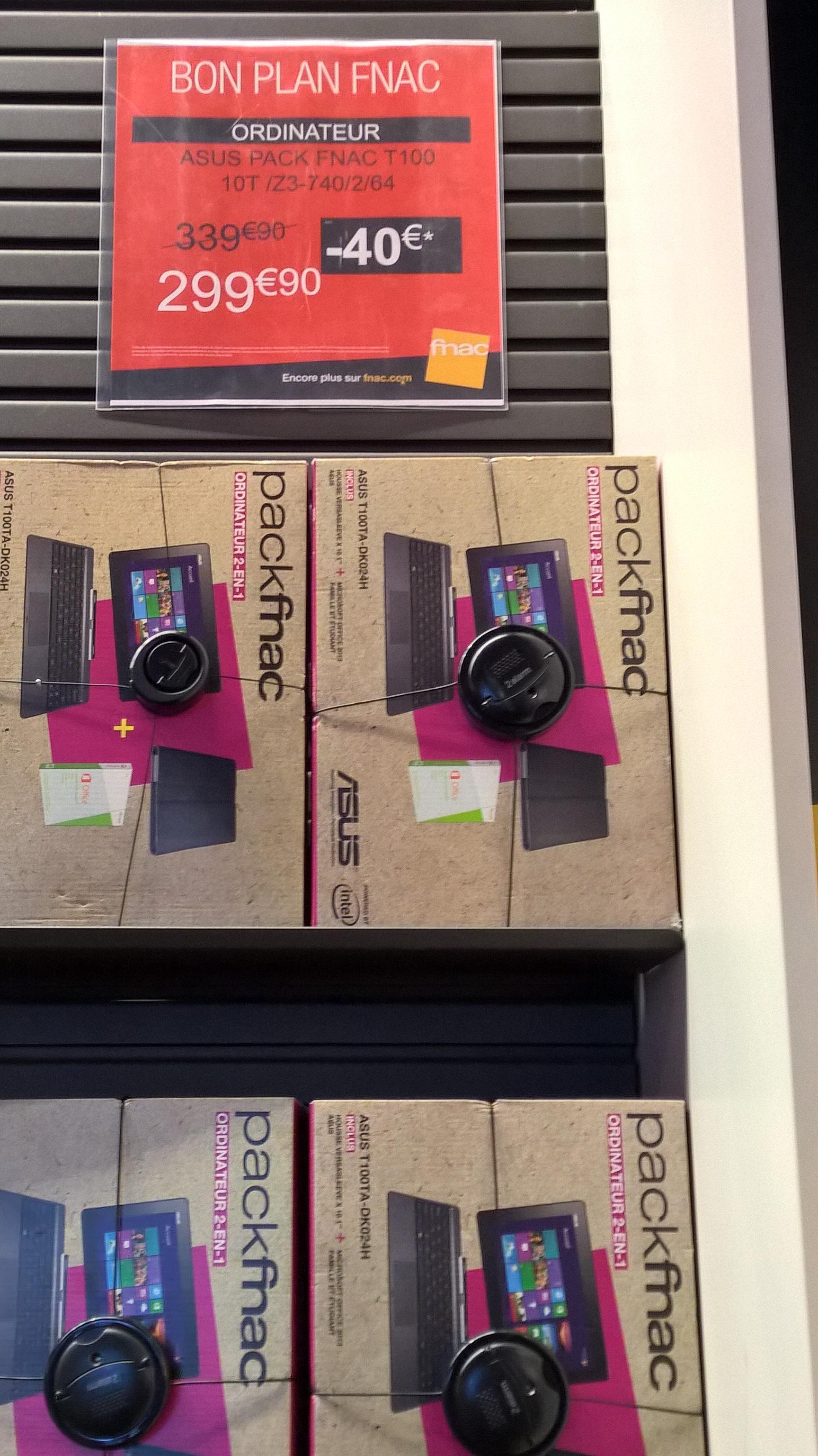 Pack Fnac : Tablette Asus T100TA-DK024H + Housse + License office 2013 famille