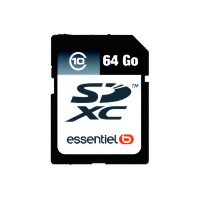 Carte mémoire SD EssentielB SDXC 64Go Classe 10