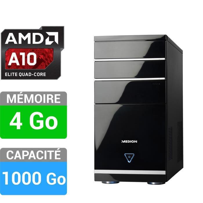 PC de bureau Medion Akoya E4069D (AMD A10-7700, Radeon R7, 4 Go, 1 To)