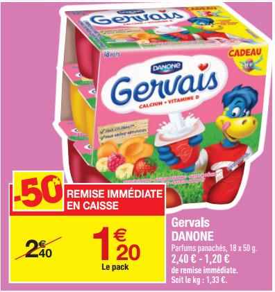 Danone Gervais aux fruits (18 x 50g)