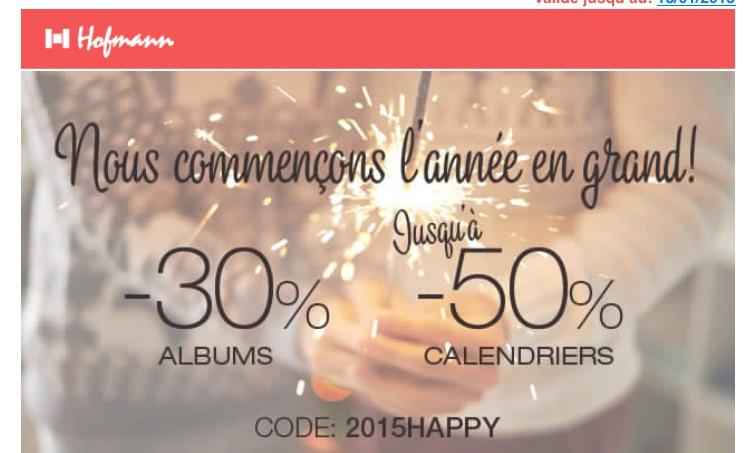 -30% sur les albums et les calendriers