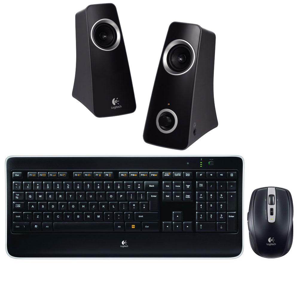 Pack Logitech Wireless Illuminated Keyboard K800 + Anywhere Mouse MX + Z320