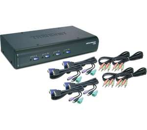Trendnet TK-423K KVM 4 ports VGA USB & PS/2 + Audio + câbles