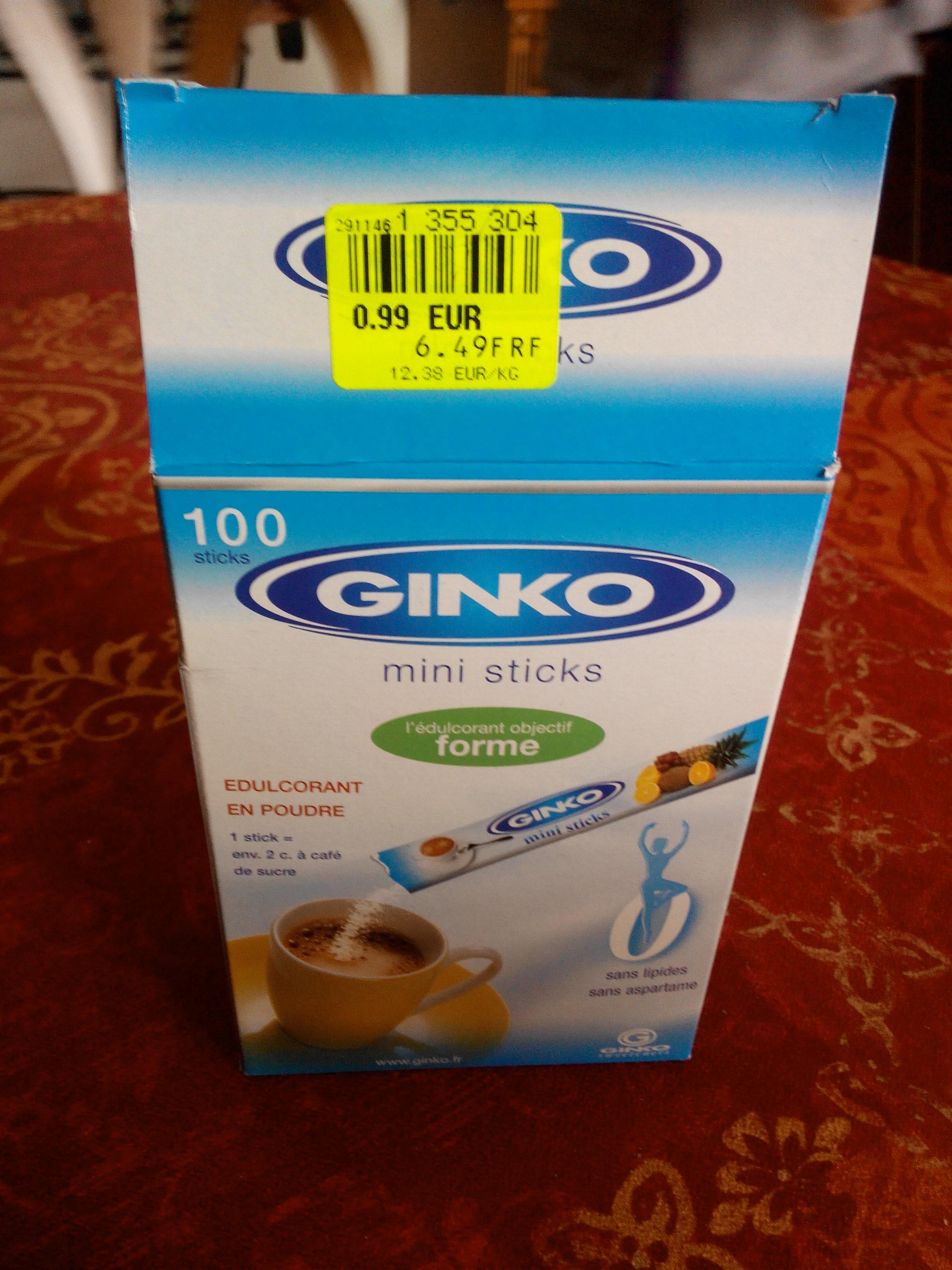 Edulcorant en poudre Ginko - 100 sticks