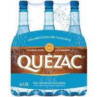 Pack de 6 bouteilles de 1,15L Eau pétillante Quezax (avec 1.25€ sur cagnotte fidélité)