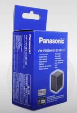 Batterie haute capacité Panasonic VW-VBN260 pour Caméscope Panasonic HDC-SD800/SD900, HDC-TM900, HC-X900...
