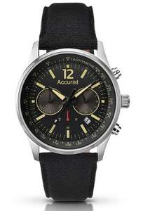 Montre Homme Accurist MS611BB - Quartz - Chronographe - Bracelet Nylon Noir