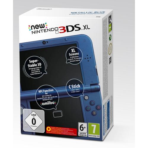Console New Nintendo 3DS XL bleue ou noire