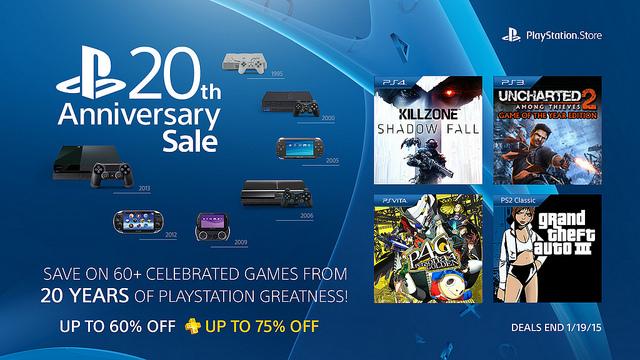Soldes 20 ans Playstation : Grande sélection de jeux PS3, PS4, PS Vita en promotion (Voir description)